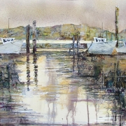 Boats by the Mudflats